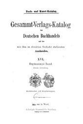 Buch- un Kunst-Katalog: 1-3. Abt. Ergänzungs-Band (7 v.)