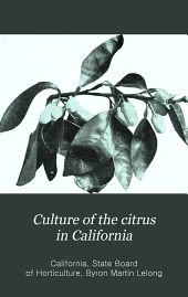 Culture of the citrus in California
