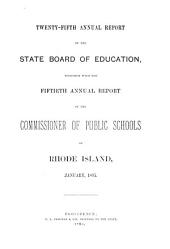 Annual Report of the Board of Education: Volume 25