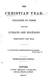 The Christian year ... By John Keble. Thirty-seventh edition