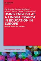 Using English as a Lingua Franca in Education in Europe PDF
