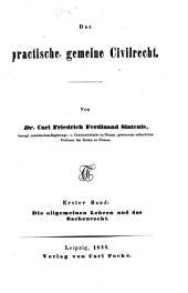 Das practische gemeine Civilrecht: Band 1