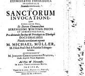 Exercitatio theol. ... de sanctorum invocatione: Exerc. II.