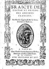 Traité de l'estat et origine des anciens françois