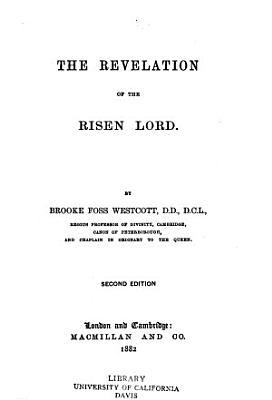 The Revelation of the Risen Lord PDF