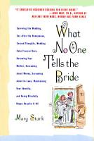 What No One Tells the Bride PDF