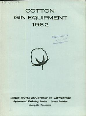 Cotton gin equipment