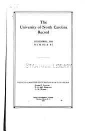 Scientific Investigation at the University, 1795-1910