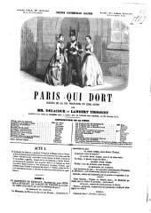 Paris qui dort: scènes de la vie nocturnes en cinq actes