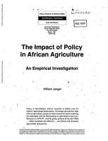 The Impact of Policy in African Agriculture PDF