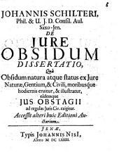 De iure et statu obsidum dissertatio iuridica