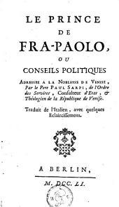 Le prince de Fra-Paolo: ou, conseils politiques, adressez à la noblesse de Venise