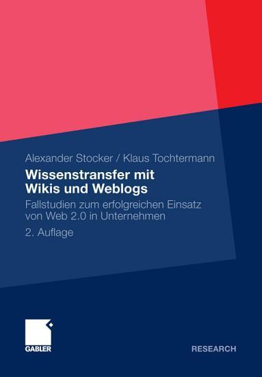 Wissenstransfer mit Wikis und Weblogs PDF