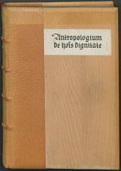Antropologium de hominis dignitate et natura