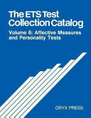 The ETS Test Collection Catalog  Affective measures and personality tests PDF