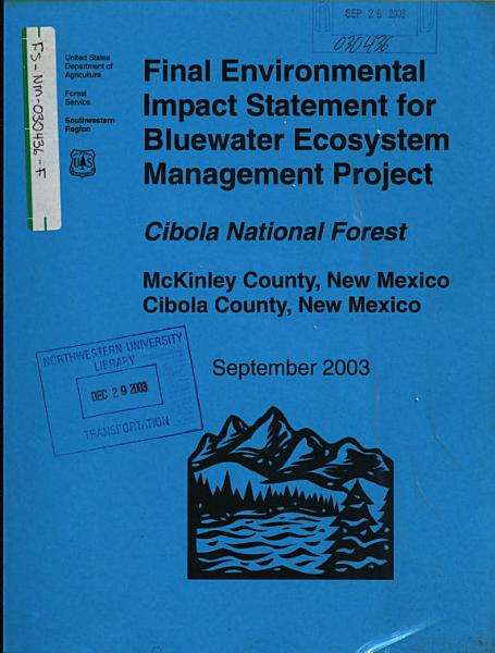 Cibola National Forest (N.F.), Bluewater Ecosystem Management Project