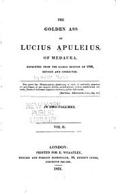 The Golden Ass of Lucius Apuleius, of Medaura: Volume 2