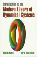 Introduction to the Modern Theory of Dynamical Systems PDF