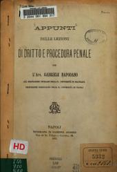 Appunti delle lezioni di dritto e procedura penale