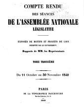Compte rendu des séances de l'Assemblée nationale: Volume3
