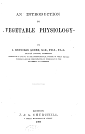 An introduction to vegetable physiology