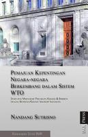 Pemajuan Kepentingan Negara negara Berkembang dalam Sistem WTO PDF