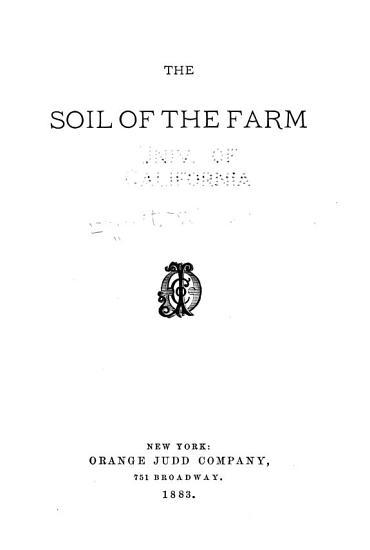 The Soil of the Farm PDF