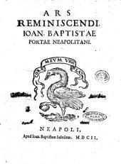 Ars reminiscendi. Ioan. Baptistae Portae Neapolitani