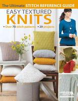 Easy Textured Knits PDF