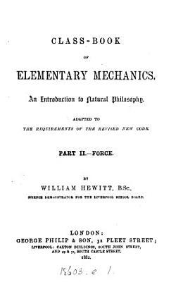 Class book of elementary mechanics PDF