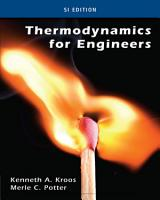 Thermodynamics for Engineers  SI Edition PDF