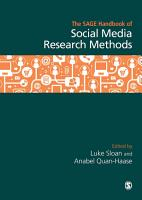 The SAGE Handbook of Social Media Research Methods PDF