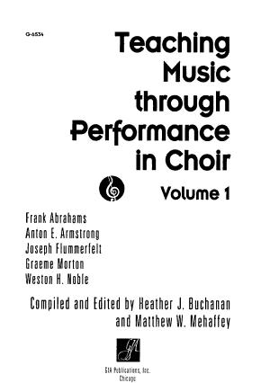 Teaching Music Through Performance in Choir PDF