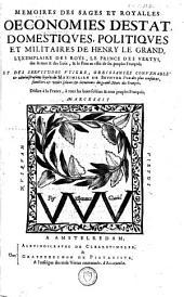 Mémoires des sages et royalles oeconomies d'Estat, domestiques, politiques et militaires de Henry-le-Grand: Volume2