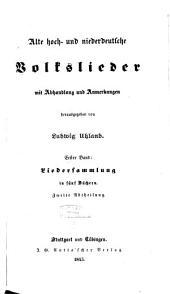 Alte hoch- und niederdeutsche Volkslieder: Liedersammlung