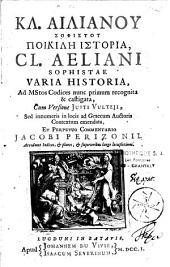 Kl. Ailianou Sophistou Poikile Historia