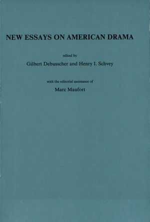 New Essays on American Drama PDF