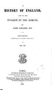 A History of England, from the First Invasion by the Romans: Volume 2