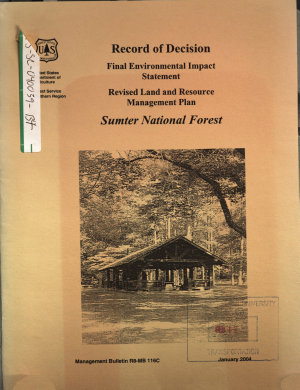 Sumter National Forest  N F    Revised Land and Resource Management Plan