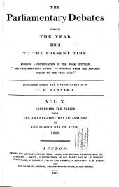 The Parliamentary Debates from the Year 1803 to the Present Time: Volume 11