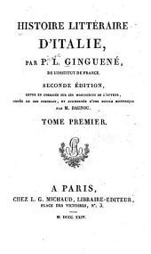 Histoire littéraire d'Italie: Volumes1à2