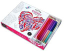 Vive Le Color  Energy  Adult Coloring Book and Pencils