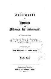 Zeitschrift für Psychologie und Physiologie der Sinnesorgane: Band 2