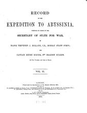Record of the Expedition to Abyssinia: Volume 2