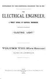 The Electrical Engineer: Volume 8