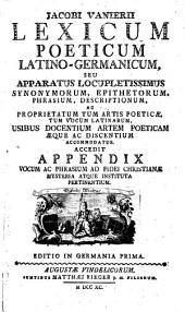 Lexicon poeticum Latino-Germanicum
