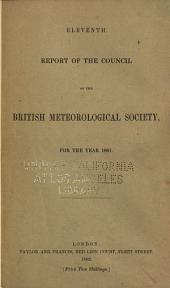Report of the Council of the British Meteorological Society: Volume 11