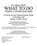 What to Do When a Loved One Dies PDF