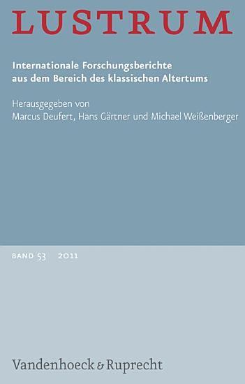 Lustrum Band 53     2011 PDF