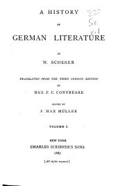 A History of German Literature: Volume 1